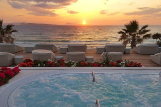 gallery delfino blu jacuzzi romantic sunset