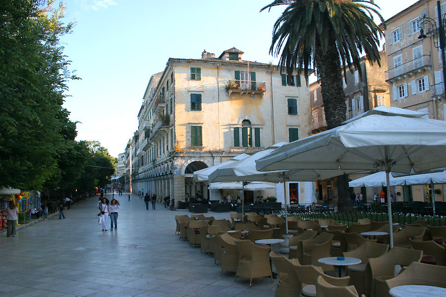 corfu town center